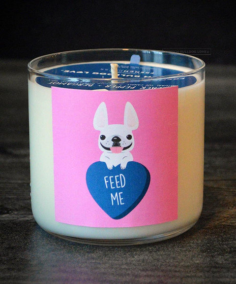 Feed Me French Bulldog Valentine's Day Card - French Bulldog Love - 1