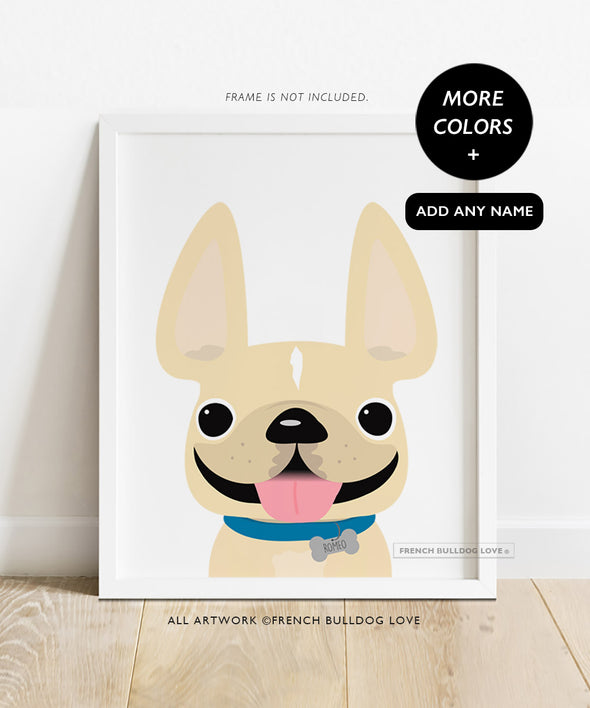 Frenchie Portrait - Charm - Custom French Bulldog Print 8x10