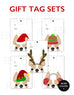 Festive Frenchies Gift Tag Set - French Bulldog Holiday Tags - French Bulldog Love - 1