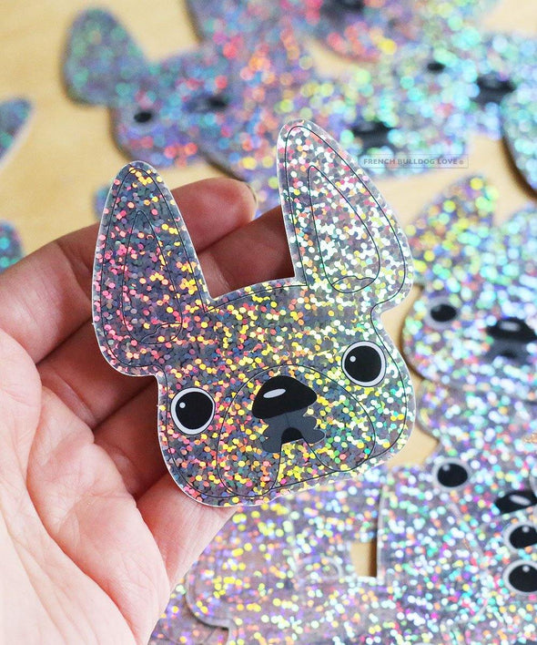 Glitter French Bulldog Sticker