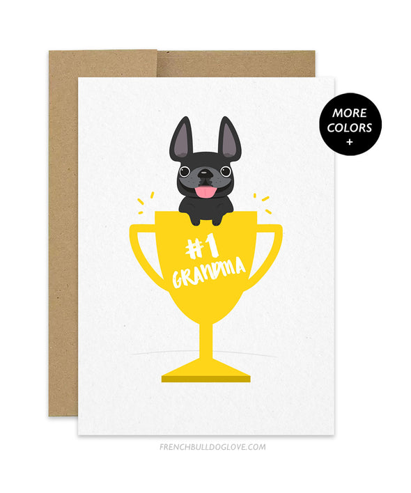 Mother's Day #1 Grandma - French Bulldog Card