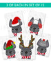 Festive Frenchies 15 Card Holiday Box Set - French Bulldog Love - 11