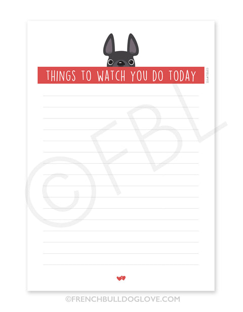 Grey / Creeping French Bulldog Notepad