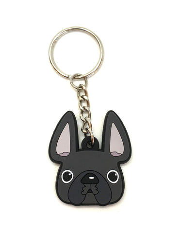 Frenchie Face Mini Keychain / Grey - French Bulldog Love - 1