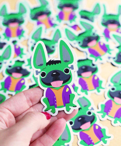 Halloween Frenchiestein French Bulldog Magnet