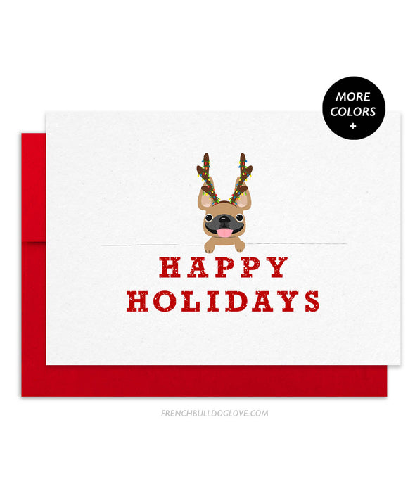 Frenchie Holiday French Bulldog Christmas Card