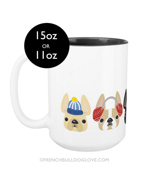 Cozy Frenchies - French Bulldog Coffee Mug 2 SIZES - French Bulldog Love - 1