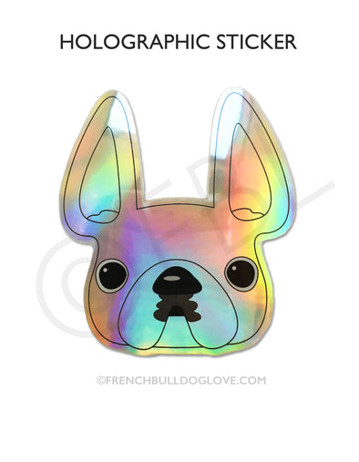 Holographic French Bulldog Sticker