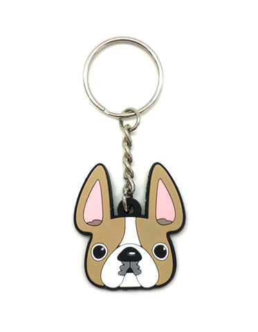 Frenchie Face Mini Keychain / Honey Pied - French Bulldog Love - 1