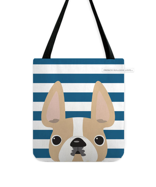 Honey Pied / Striped French Bulldog Tote Bag