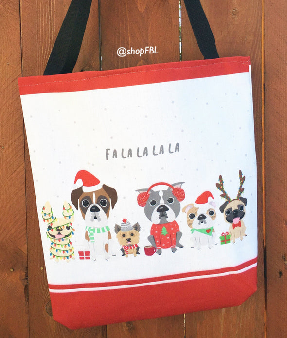 Fa La La - A Dog Park Christmas - Holiday Tote Bag