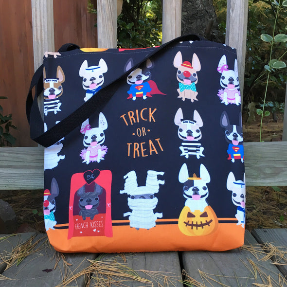 Halloween Trick or Treat French Bulldog Tote Bag