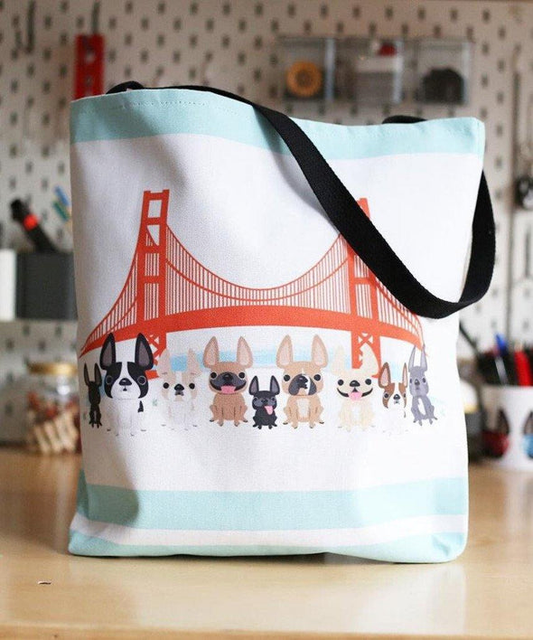 Bay Area Frenchies French Bulldog Tote Bag