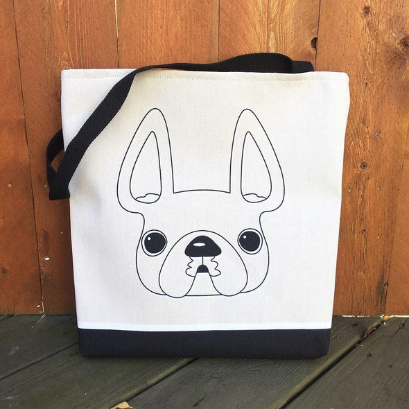 A Simple Frenchie French Bulldog Tote Bag