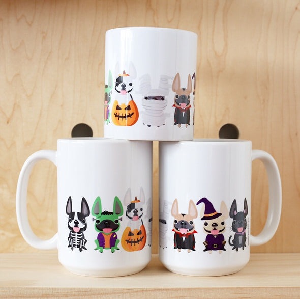 french bulldog halloween mug by french bulldog love