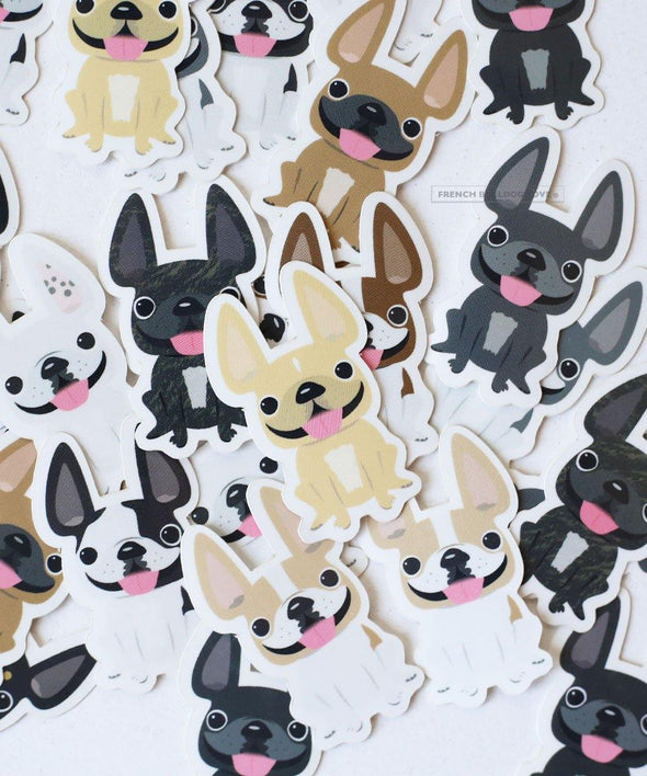 Itty Bitty Mini Stickers - Set of 2 - Frenchie #16 - Waterproof Vinyl
