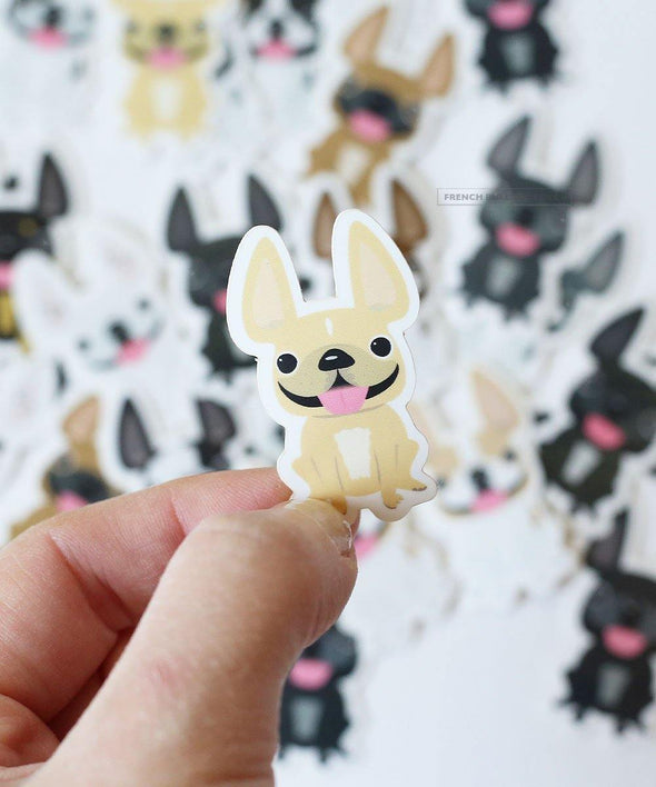 Itty Bitty Mini Stickers - Set of 2 - Frenchie #4 - Waterproof Vinyl