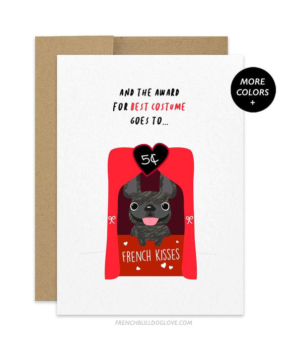 Best Costume Halloween French Bulldog Greeting Card