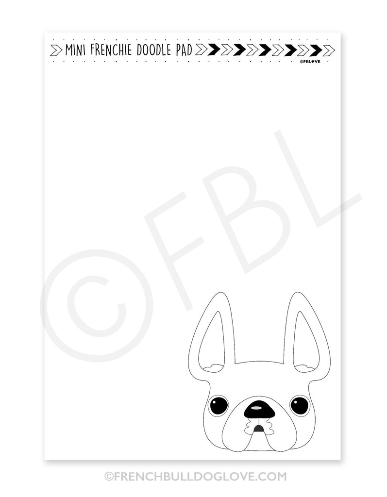 Mini French Bulldog Doodle Pad