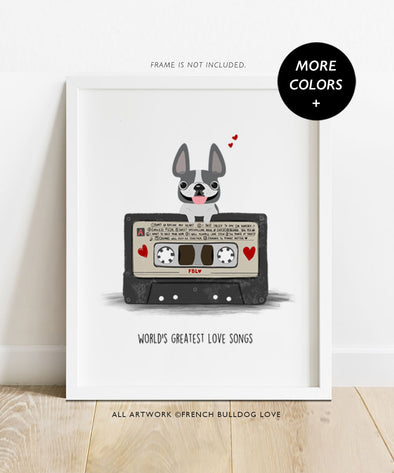 Mixtape - Custom French Bulldog Print 8x10