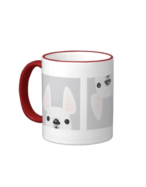 White Frenchie in a Box - French Bulldog Coffee Mug - French Bulldog Love - 1