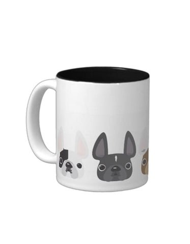 Five More Little Frenchies - French Bulldog Coffee Mug - French Bulldog Love - 1