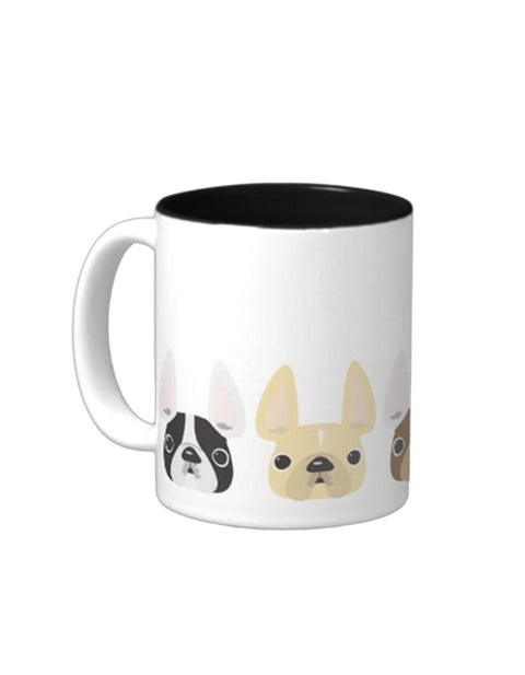 Five Little Frenchies - French Bulldog Coffee Mug - French Bulldog Love - 1
