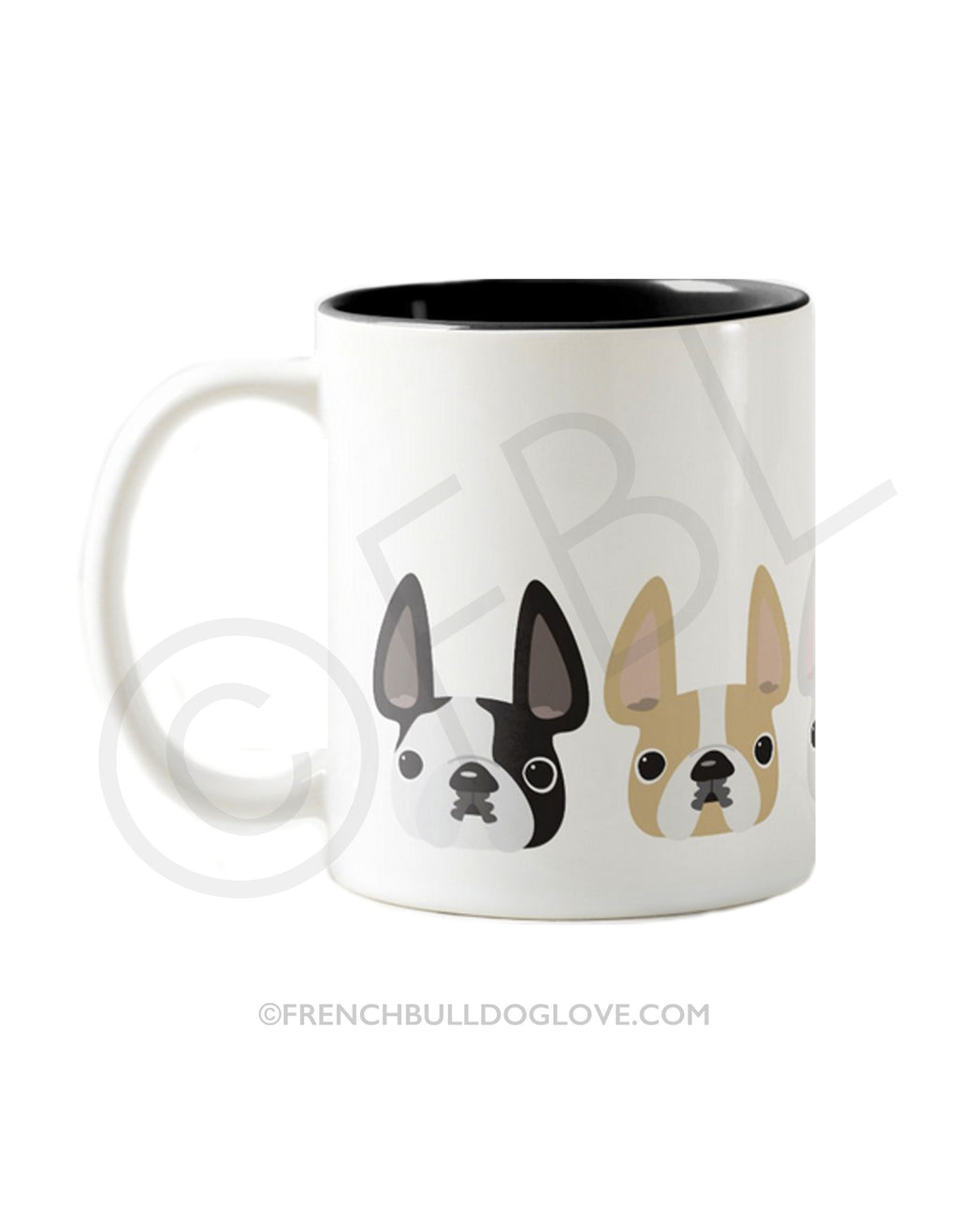 FIVE LITTLE FRENCHIES - DAPPER - French Bulldog Coffee Mug