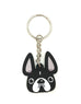 Frenchie Face Mini Keychain / Black & White - French Bulldog Love - 1