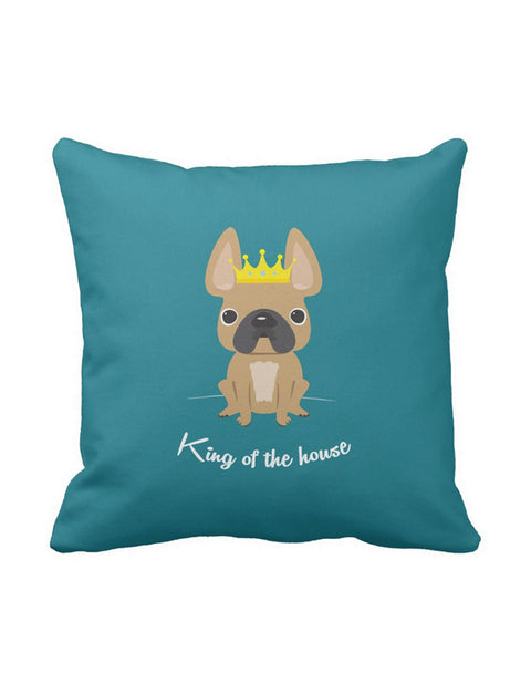 King of the House French Bulldog Pillow / Fawn - French Bulldog Love - 1