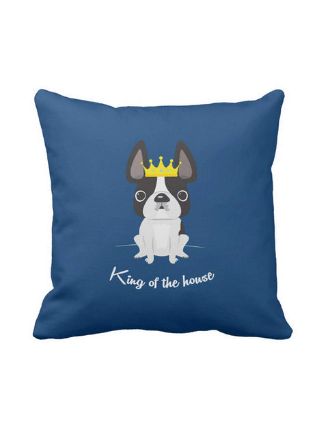 King of the House French Bulldog Pillow / Black & White - French Bulldog Love - 1
