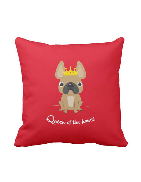 Queen of the House French Bulldog Pillow / Fawn - French Bulldog Love - 1