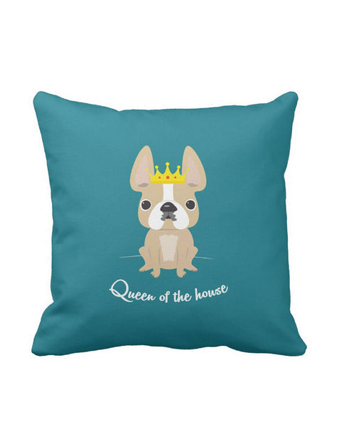 Queen of the House French Bulldog Pillow / Honey Pied - French Bulldog Love - 1
