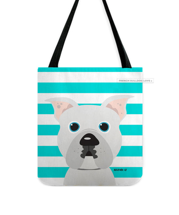 Pit Bull Tote Bag - All White