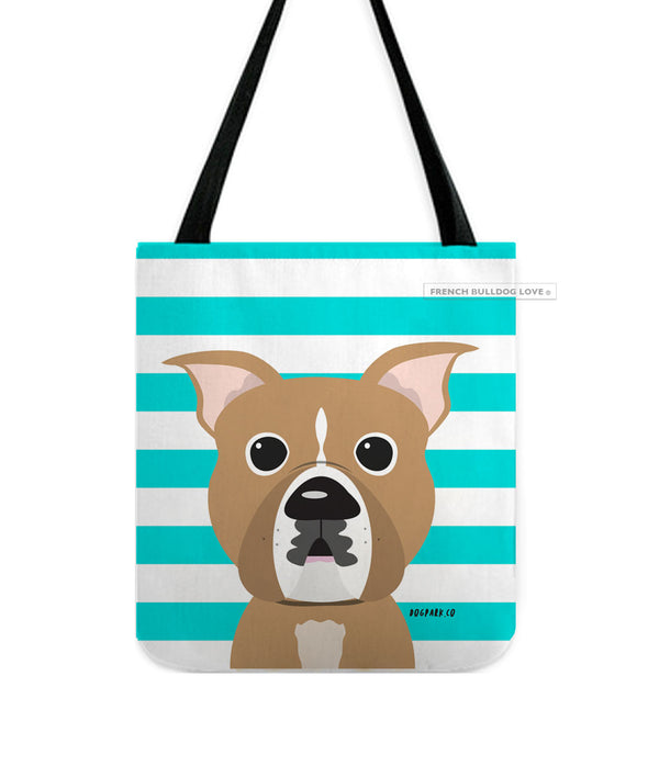 Pit Bull Tote Bag - Tan Stripe