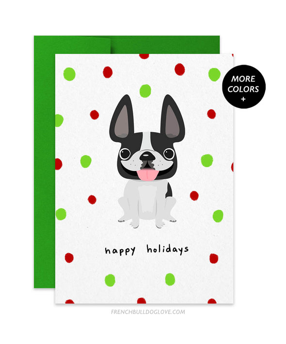 Holiday Cheer - Gumdrops - French Bulldog Christmas Card