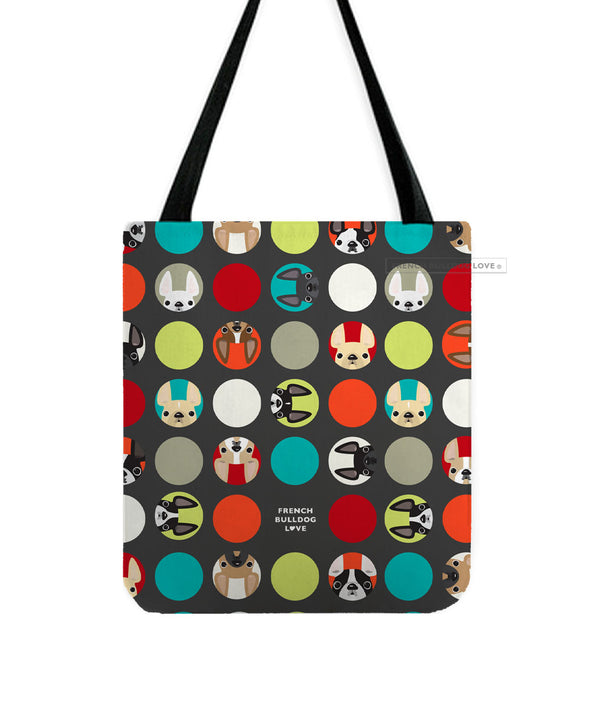 Polka Dogs French Bulldog Tote Bag