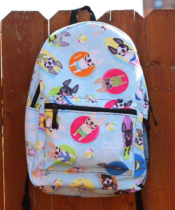Pool Party Backpack by French Bulldog Love
