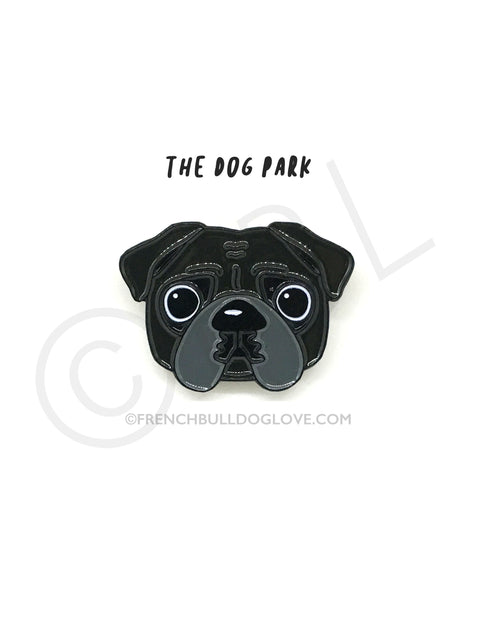 Pug Enamel Pin - Black Pug