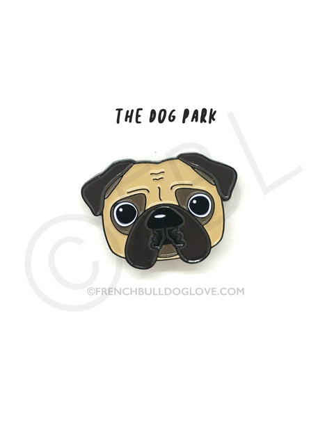 Pug Enamel Pin - Cream Pug