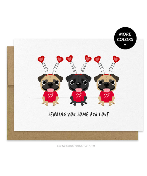 Pug Love - Valentine's Day Love Card