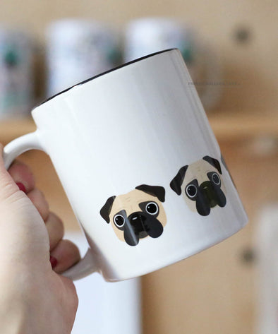Five Little Pugs - Pug Coffee Mug