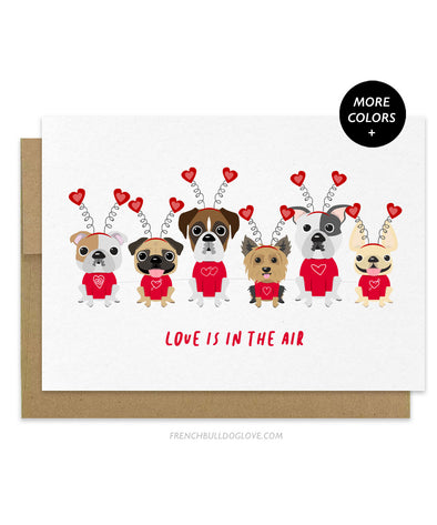 Puppy Love - Valentine's Day Dog Card