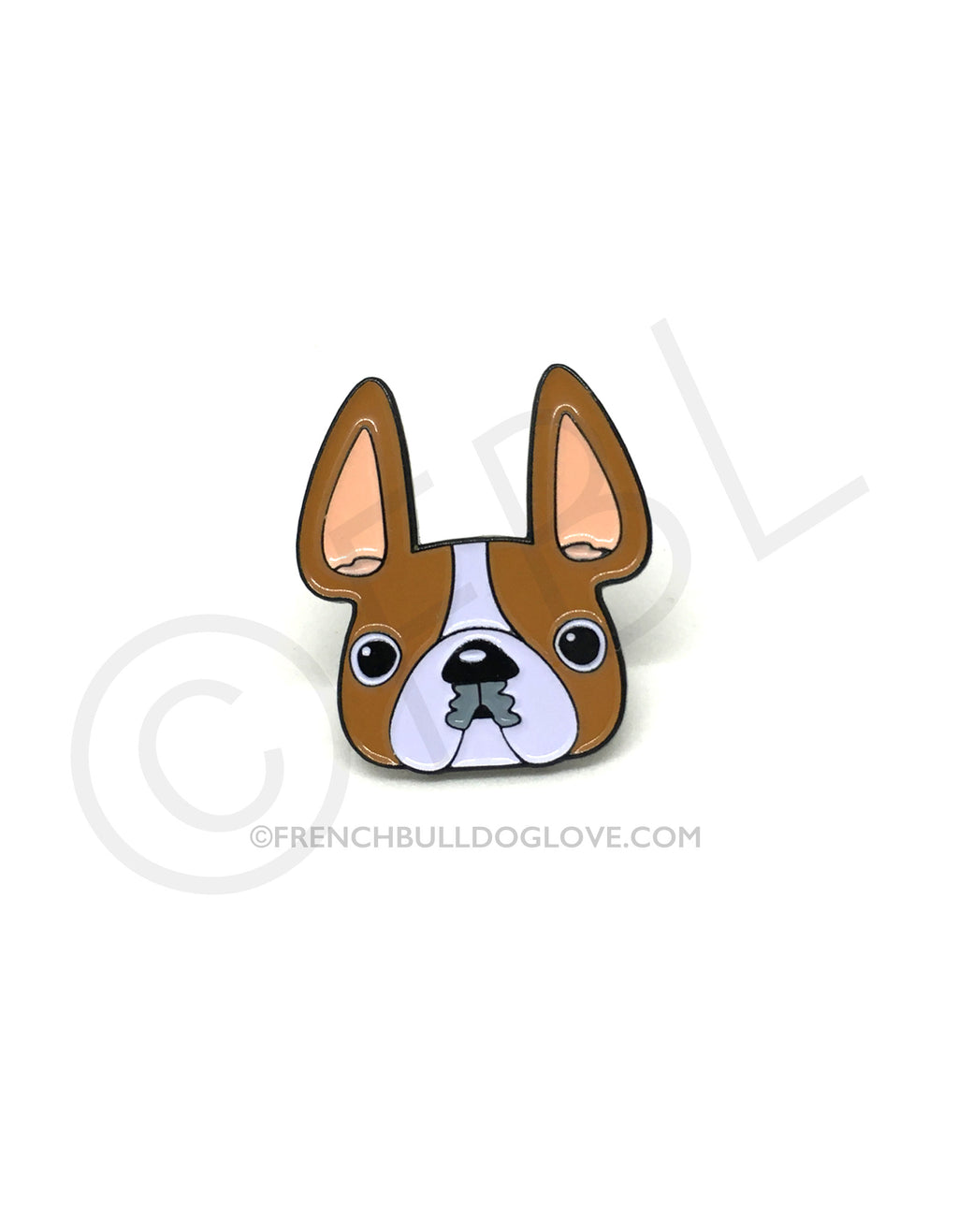French Bulldog Enamel Pin - Red Pied
