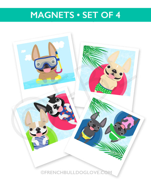 Snapshots French Bulldog Magnets Set of 4