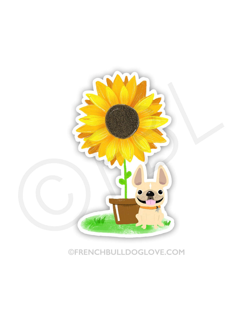 #100DAYPROJECT 17/100 - SUNFLOWER VINYL STICKER
