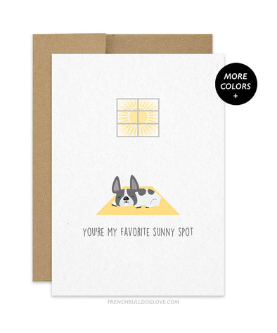 Favorite Sunny Spot French Bulldog Greeting Card
