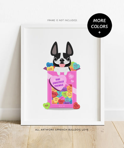 Sweethearts - Custom French Bulldog Print 8x10