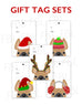 Festive Frenchies Gift Tag Set - French Bulldog Holiday Tags - French Bulldog Love - 11
