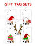 Festive Frenchies Gift Tag Set - French Bulldog Holiday Tags - French Bulldog Love - 12